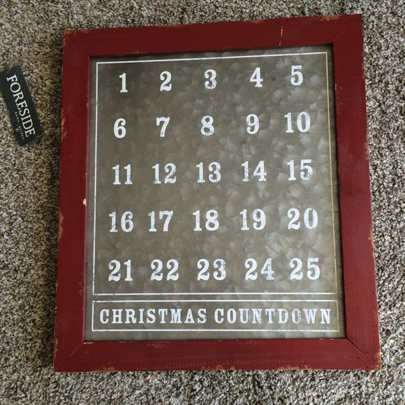 Magnetic Christmas advent calendar